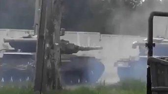 Танковые бои в Донецке. Видео