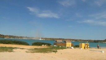 Минометный обстрел пляжа Авдеевского карьера. Видео