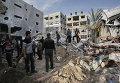 Последствия ракетных обстрелов сектора Газа