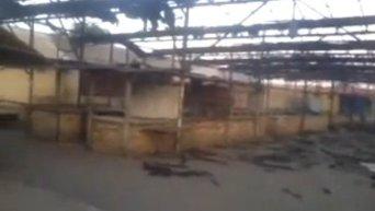 Последствия обстрела рынка в Дебальцево. Видео