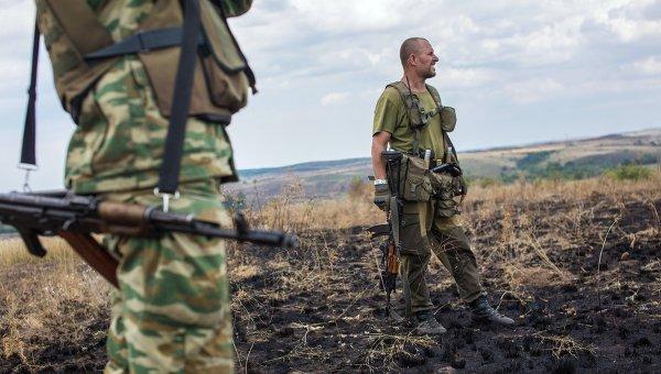 Бойцы ополчения в Донецкой области