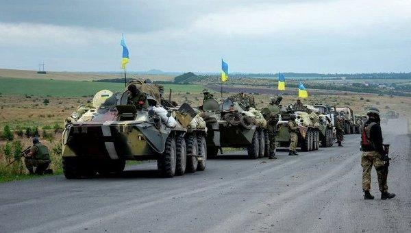 Украинские военнослужащие на востоке Украины