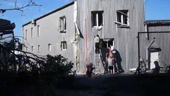 Последствия обстрела Луганска. Видео