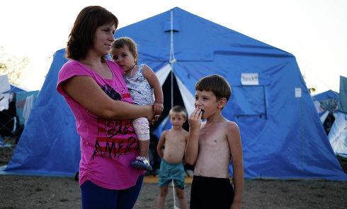 Лагерь беженцев из Украины в Севастополе. Архивное фото