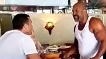 Бриггс разозлил Кличко, отобрав у него тарелку с едой
