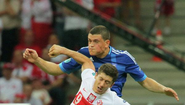 Футбол.ЕВРО - 2012.Матч сборных Польши и Греции