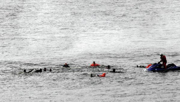 Затонувшее судно. Архивное фото