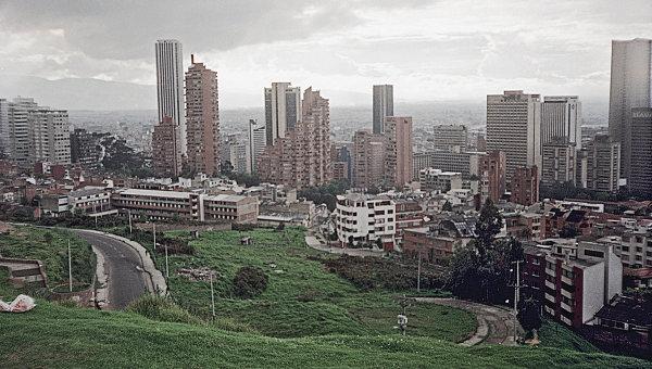 Вид на столицу Колумбии Боготу. Архивное фото