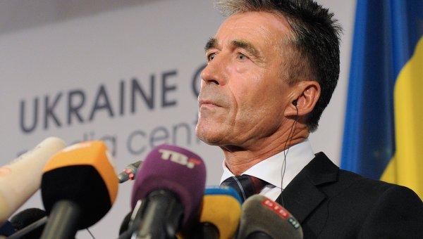 Генсекретарь НАТО Андерс Фог Расмуссен в Киеве
