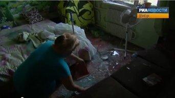 Донецк после обстрела: испуганные жители и дыры в домах