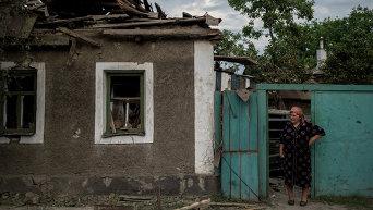 Жительница Луганска. Архивное фото