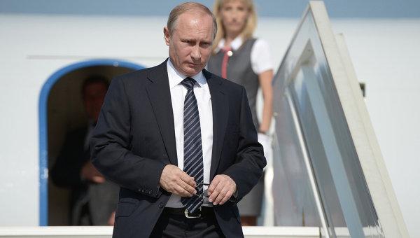 Владимир Путин прибыл в Крым, 13 августа 2014