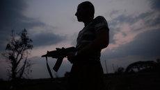 Боец ополчения на востоке Украины. Архивное фото