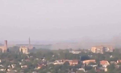 Силовики штурмуют Горловку. Видео