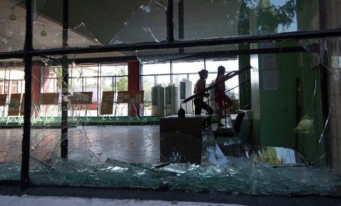 Школа в Краматорске после обстрела. Архивное фото