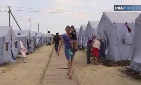 Быт беженцев из Украины в Ростовской области. Видео