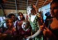 Лагерь переселенцев с востока Украины