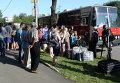 Эвакуация жителей восточной Украины. Архивное фото