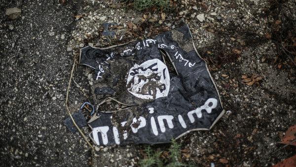 Флаг организации ИГ. Архивное фото