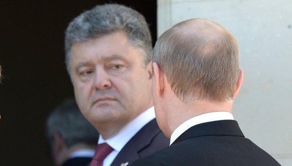 Петр Порошенко и Владимир Путин. Архивное фото
