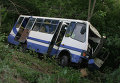 ДТП с участием автобуса в Полтавской области. Видео