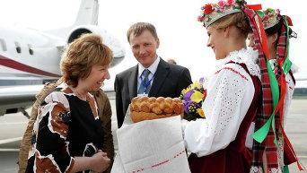 Кэтрин Эштон прибыла в Минск