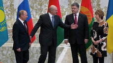 Встреча Порошенко, Лукашенко, Путина и Эштон в Минске
