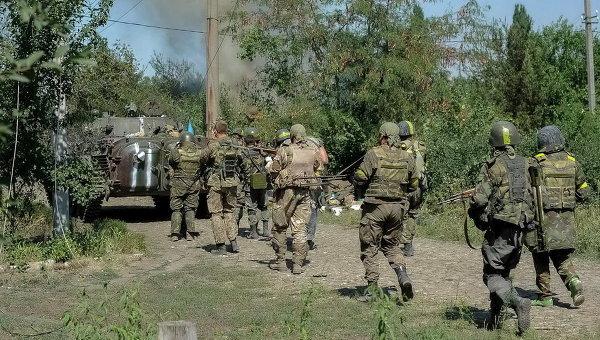 Украинские военные в Иловайске. Архивное фото