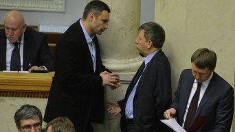 Виталий Кличко на заседании Верховной Рады
