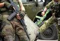 Бойцы ДНР в  Донецке