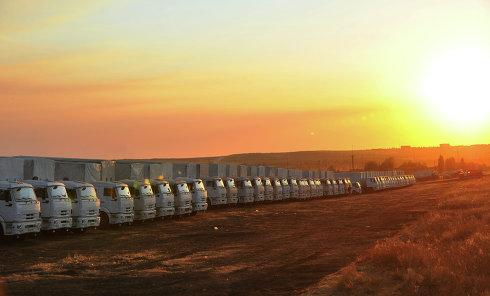 Предположительно вторая колонна с гуманитарным грузом для Украины стоит в Ростовской области