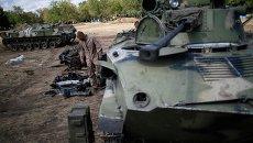 Украинские военные в Дебальцево