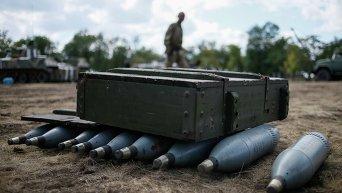 Лагерь украинских военных в Дебальцево