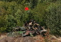 Ополченцы на танке за пределами Оленовки