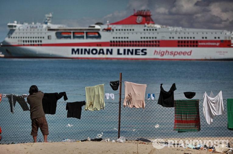 Лагерь беженцев в порту Бенгази