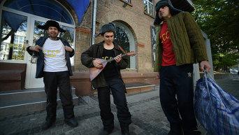 Театрализованная акция в Киеве против российского кино