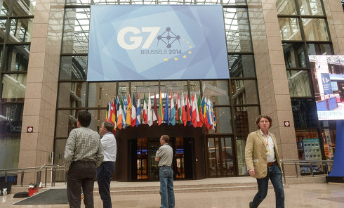 На открытии саммита стран G7. Архивное фото