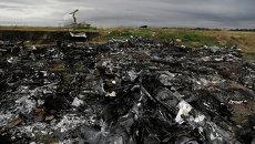 На месте крушения Boeing 777