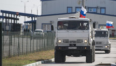 В субботу,  13 сентября, в Луганскую область прибыл второй гуманитарный конвой РФ в количестве около двухсот КамАЗов. Архивное фото
