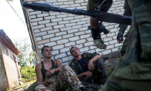 Пленные военные украинской армии. Архивное фото