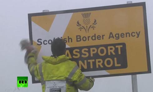 Шотландия обзавелась собственным пунктом пропуска. Видео