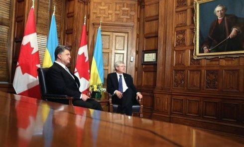 Петр Порошенко и Стивен Харпер