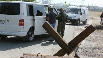 Украинские военные в районе Мариуполя. Архивное фото