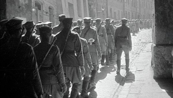 ВОВ Войско Польское. Архивное фото
