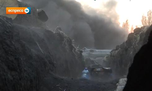 Обстрел позиций сил АТО под Иловайском. Видео