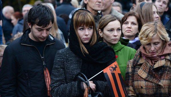 Акция памяти Донецк: невинно убиенные проходит на Поклонной горе в Москве