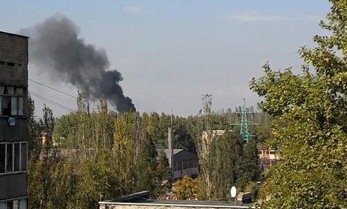 Взрывы со стороны донецкого аэропорта Донецк. Видео