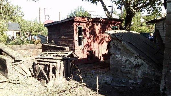 Разрушения в Попасной Луганской области