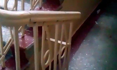 Донецкая школа под обстрелом