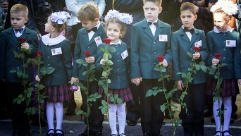 Первое сентября в Макеевской школе. Архивное фото